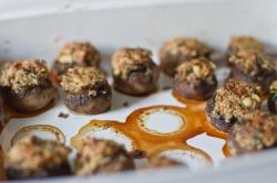 cheddar stuffed mushrooms