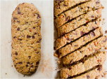 Cornmeal and ginger biscotti
