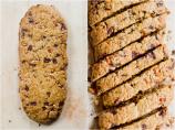 Cornmeal and ginger biscotti